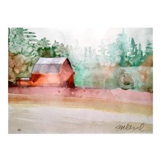 """La Center, Wa."" Watercolor Painting"