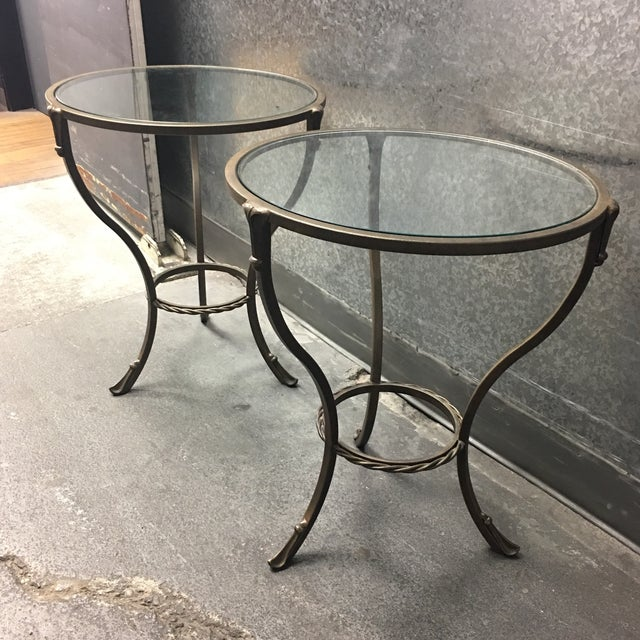 Kolkka Metal & Glass Side Tables - A Pair - Image 5 of 7