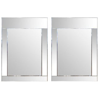 """Pair of 52"""" La Barge Mirror Framed Mirrors"""
