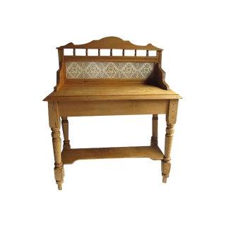 English Pine Tile Back Washstand