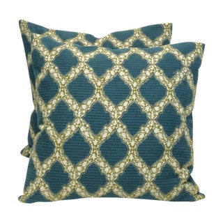 John Robshaw Trellis Pillows- A Pair