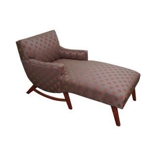 Mid-Century Modern 1950s Upholstered Chaise Lounge