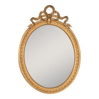 Antique French Louis XVI Style Oval Mirror circa 1890 (19″w x 27″h)