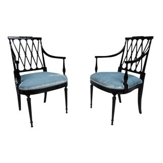 Vintage Hollywood Regency Style Chairs - a Pair