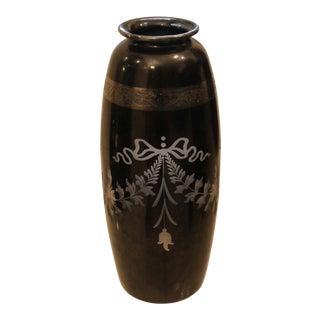 1930's Famed Hawkes Art Deco Steuben Black Vase