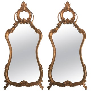 Italian Rococo Style Wall or Console Mirrors - a Pair