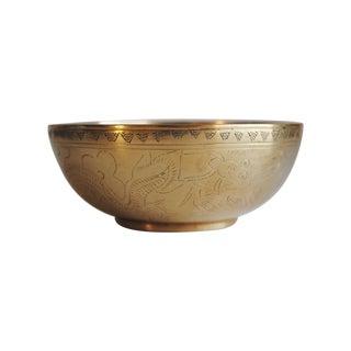 Vintage Brass Dragon Bowl
