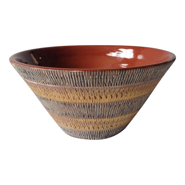 Aldo Londi Bitossi Black And Gold Pottery Bowl - Image 1 of 11