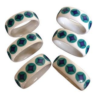 Mid-Century German Porcelain Napkin Rings - Set of 6