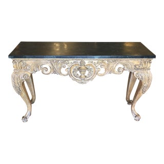 Rococo-Style Marble Top Console