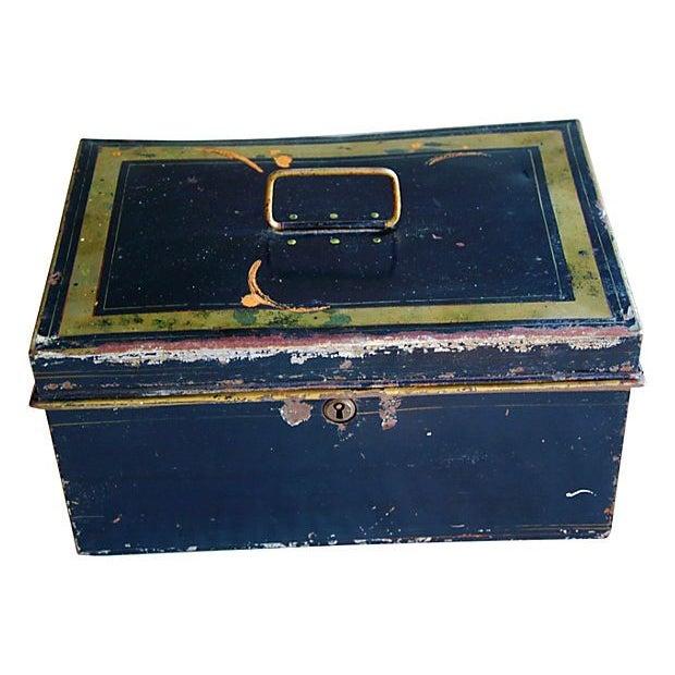 Antique Tin Document Box - Image 1 of 6