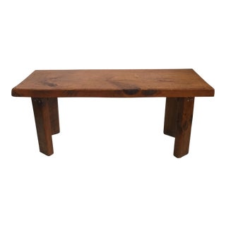 Pine Slab Coffee Table