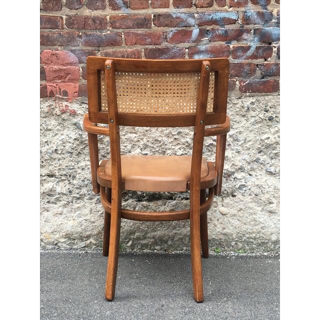 Mid-Century Changebak Cane & Wood Accent Chair - Image 6 of 7