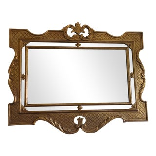 Victorian Ornate Gilt Mirror