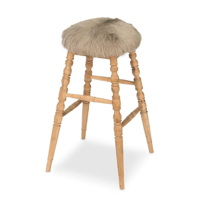 Sarreid LTD Beige 'Winoma' Bar Stool - Image 2 of 6
