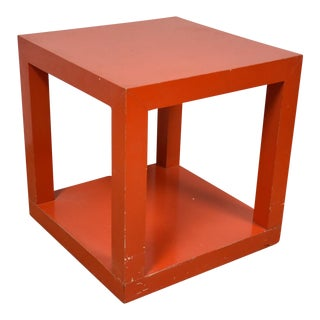 Mid-Century Orange End Table