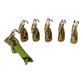 Brass Ibex Napkin Rings - Set of 6