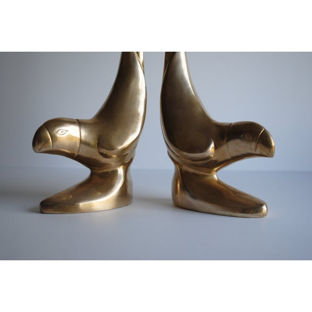 Image of Vintage Brass Bird Bookends - Pair