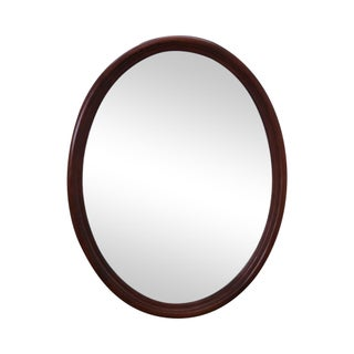 Henkel Harris Solid Cherry Oval Wall Mirror
