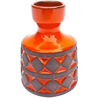Mid-Century Modern Danish Fire-Red Vase