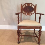Image of Carved Mahogany Armchair