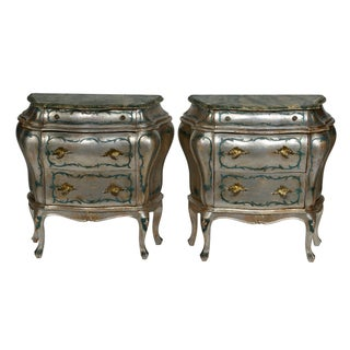 Hand Painted Italian-Style Commodes - Pair