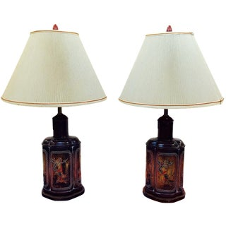 Vintage Asian Lamps - A Pair