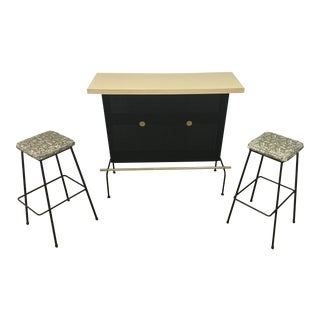Atomic Vintage Bar With 2 Stools