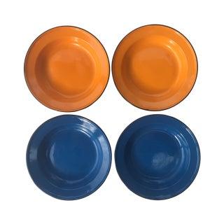 Vintage Enamel Bowls - Set of 4
