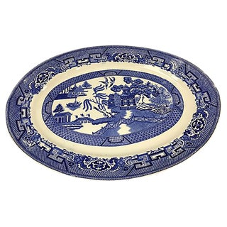 Homer Laughlin Blue & White Platter