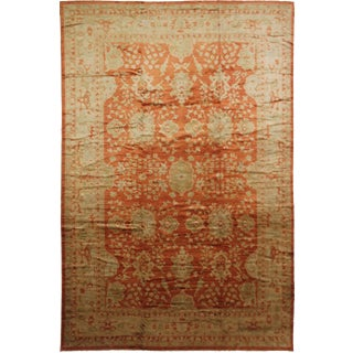 "Aara Rugs Inc. Hand Knotted Fine Oushak Rug - 16'3"" X 12'2"""