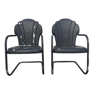 Vintage Metal Lawn Chairs - A Pair