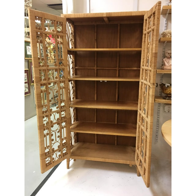 Bohemian Rattan Armoire Cabinet - Image 2 of 10