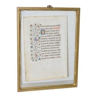 Illuminated Medieval Manuscript