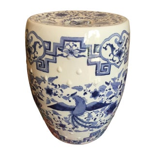 Chinoiserie Ceramic Garden Stool
