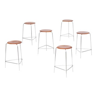 Set of Six Rare Arne Jacobsen Dot Stools