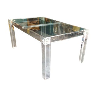 Vintage Palm Beach Style Lucite Dining Table