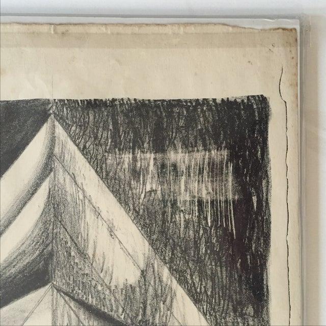 Richard Ayer Vintage Geometric Lithograph Print - Image 4 of 5