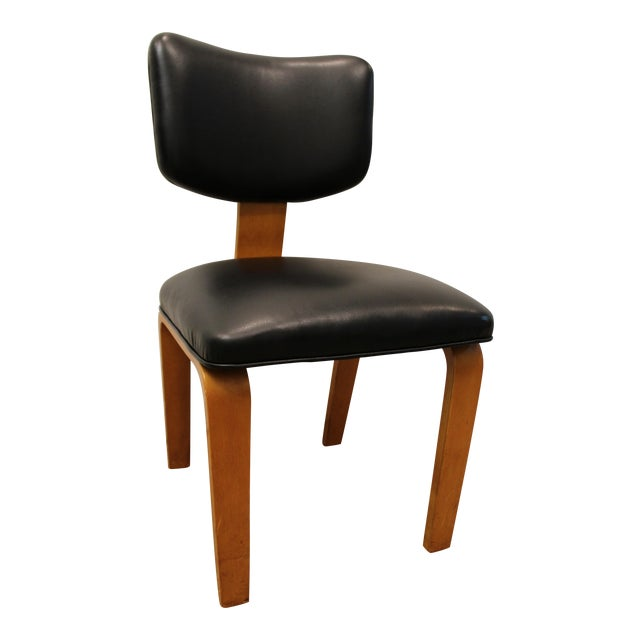 Mid Century Danish Modern Joe Atkinson For Thonet Nailhead Bentwood Side Chair