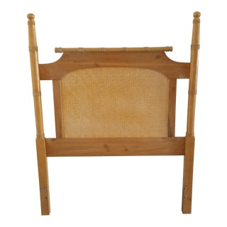 Chippendale Style Faux Bamboo Wood Twin Size Headboard