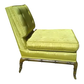 Robsjohn Gibbins Green Slipper Chair