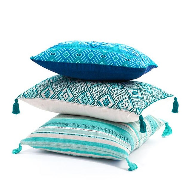 Guatemalan Turquoise Pillow - Image 3 of 4
