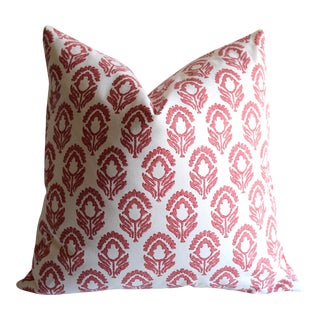 Red & White Les Indiennes Pillow