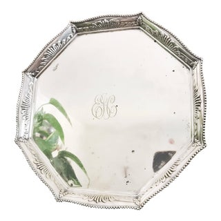 1895 Antique Tiffany & Co Silver Plate Serving Platter