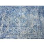 Image of Antique 1930s Softly Faded Blue Batik Textile