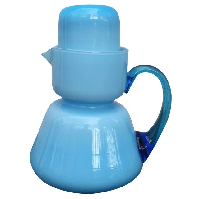 Michael Bang for Holmegaard Blue Pitcher & Cup - Image 1 of 5