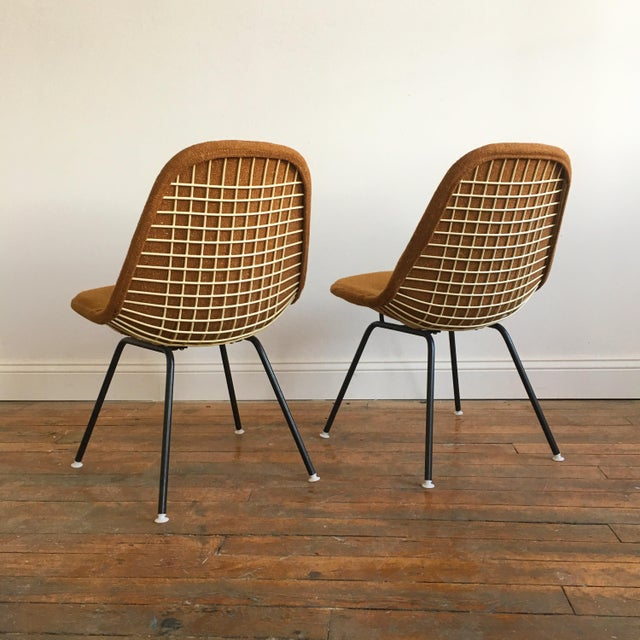 Herman Miller Eames Wire Chairs With Alexander Girard Covers - A Pair - Image 4 of 10