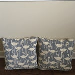 Image of Blue and White Pillows - Pair