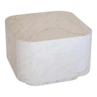 White Marble Plinth Base Table