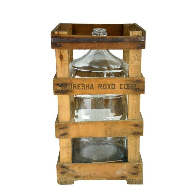 Vintage Water Jug and Crate - Image 2 of 2